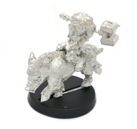 Halfling Berserker on Boar Mount, 32mm