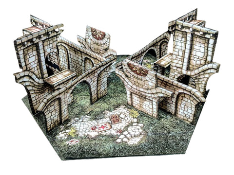 Toppled Arches Pop-Up Terrain, 12 Inch - Digital Download - Printing & Assembly Required