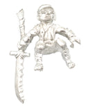 Halfling Barbarian Rider, 32mm