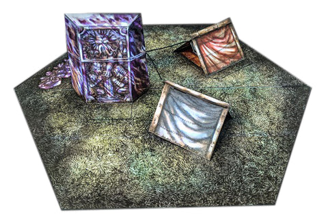 Monolith Camp Pop-Up Terrain, 12 Inch - Digital Download - Printing & Assembly Required