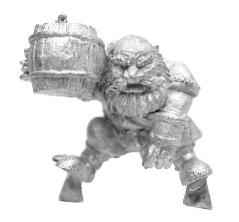 Male Mounted Dwarven Brewmaster, 25mm