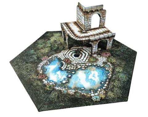 Small Ruins Pop-Up Terrain, 12 Inch - Digital Download - Printing & Assembly Required