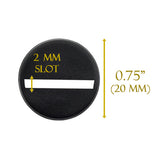 "Slotted Miniature Bases, 0.75""(20mm) - Pack of 20"