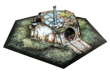 Decrepit Halfling Hole Pop-Up Terrain, 12 Inch - Digital Download - Printing & Assembly Required