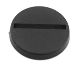 "Slotted Miniature Bases, 1"" (25mm) - Pack of 50"