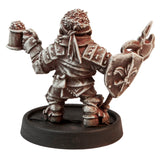 Male Dwarven Guard, 30mm