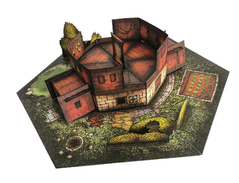 Fort Pop-Up Terrain, 12 Inch - Digital Download - Printing & Assembly Required