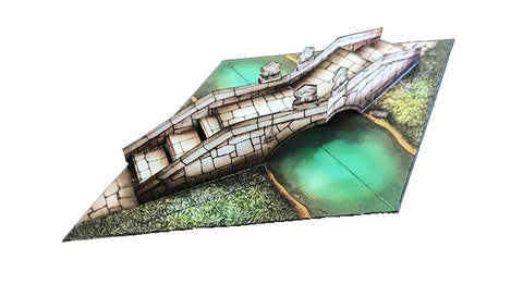 Bridge Pop-Up Terrain, 12 Inch - Digital Download - Printing & Assembly Required
