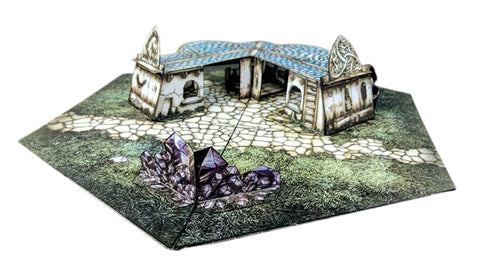Stables Pop-Up Terrain, 12 Inch - Digital Download - Printing & Assembly Required