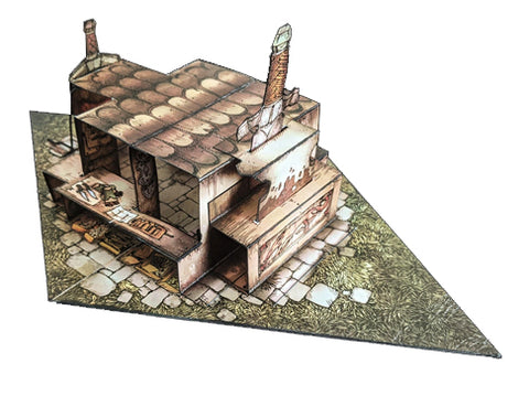 Depot Pop-Up Terrain, 12 Inch - Digital Download - Printing & Assembly Required
