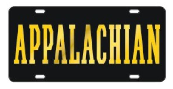 Appalachian State Mountaineers Black & Gold Laser Cut Car Tag