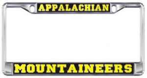 Appalachian State Mountaineers Metal Domed Mirror License Plate Frame
