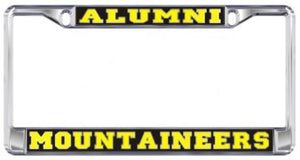 Appalachian State Alumni Metal Domed Mirror License Plate Frame