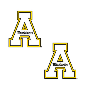 Appalachian State Mountaineers 2 Inch X 2 Inch Block A Decal - 2 Pack
