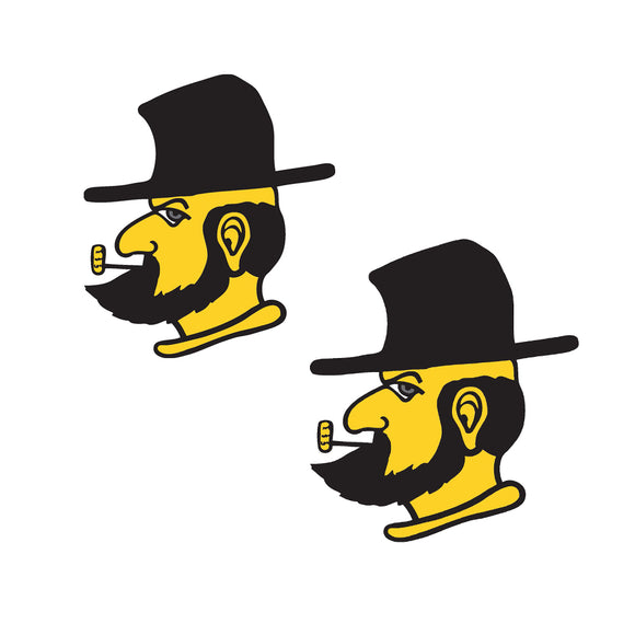 Appalachian State Mountaineers 2 Inch X 2 Inch Yosef Decal - 2 Pack