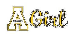 Appalachian State GIRL 6 Inch Vinyl Decal
