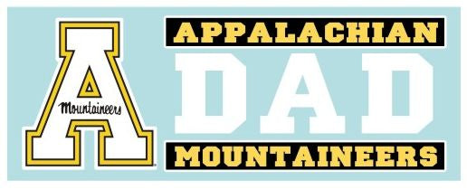 Appalachian State Mountaineers DAD 6 Inch Vinyl Decal