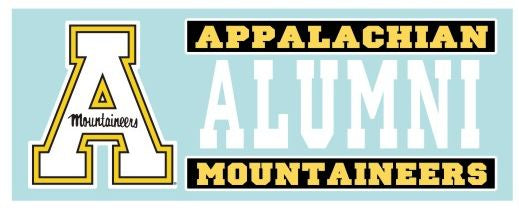 Appalachian State Mountaineers ALUMNI 6 Inch Vinyl Decal