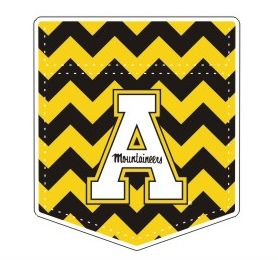 Appalachian State Mountaineers Chevron Pocket Block A Vinyl Decal