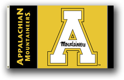 Appalachian State Mountaineers Black & Gold 3' X 5' Flag W/Grommets