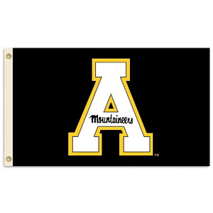 Appalachian State Mountaineers Black Block A 3' X 5' Flag W/Grommets