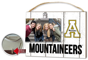 Applachian State Mountaineers Weathered Clip-It Picture Plaque