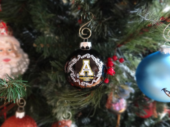 Appalachian State Mountaineers Glass Ball Ornament