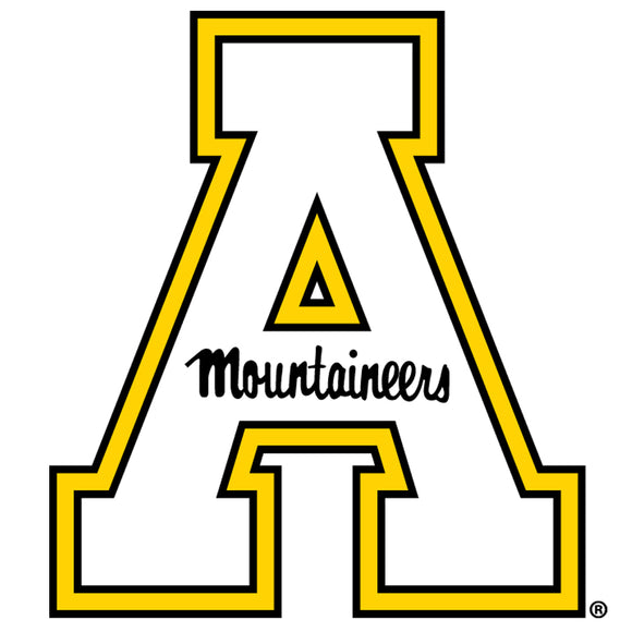 Appalachian State Mountaineers 12 Inch Block A Logo Magnet