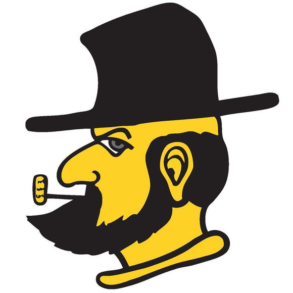 Appalachian State Mountaineers 12 Inch Yosef Mascot Head Magnet