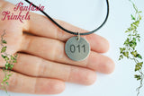 "Eleven ""011"" Steel Tag Charm Pendant Necklace - Stranger Things Jewelry"