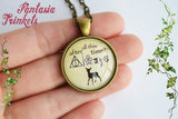 After all this time? Always + Doe Patronus - Snape Quote Glass Pendant Necklace - Harry Potter Jewelry
