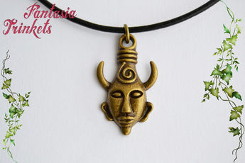Dean Winchester's Demonic Protection Amulet - Flat Bronze Keychain, Choker or Pendant Necklace - Supernatural inspired