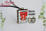 Ratatouille's Anyone can cook Miniature Book Locket (quote inside) Charm Pendant Necklace Keyring