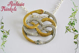 Auryn - Gold and Silver Handpainted Pendant Necklace - Atreyu's Amulet Replica - Neverending Story Jewelry