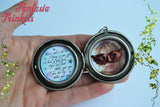 "Labyrinth Masquerade Ball Locket Pendant Necklace - ""As the world falls down"" lyrics + Masked Jareth"
