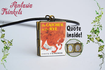 The Catcher in the Rye Miniature Book Locket (quote inside) Charm, Keychain or Pendant Necklace