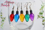Stranger Things inspired Large Christmas Tree Lights Dangle Earrings