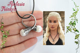 Daenerys Targaryen Ring - Adjustable Twin Pearl Dothraki Wedding Ring - Khaleesi Cosplay Pendant Necklace - Game of Thrones Jewelry