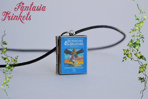 Stranger Things inspired Mike Wheeler's Dungeons and Dragons Game Book Locket (quote inside) Charm, Keychain or Pendant Necklace