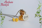 Eleven Jewelry Set = Eggo Earrings + Miniature Waffles in a Bottle + 011 Steel Tag Pendant Necklace - Stranger Things Jewelry
