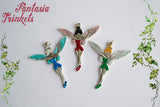 Colourful Fairy with Iridescent Wings - Handpainted Pendant Necklace - Fairy Tale inspired