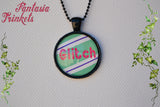 "Vanellope ""The Glitch"" Von Schweetz - Candy Princess Photo Glass Pendant Necklace - Wreck-it Ralph inspired Jewelry"