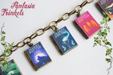 LAST ONE Harry Potter Series Book Lockets Charm Bracelet (with quotes inside)