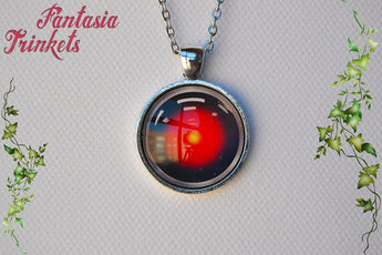 HAL 9000 Photo Glass Pendant Necklace - 2001: A Space Odyssey inspired - Classic Sci-Fi Jewelry