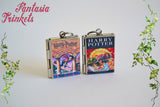 Harry Potter Series - All 7 Books Locket Collection (quotes inside) Charms Pendants Keyring Bracelet