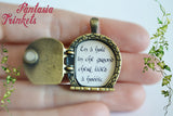 Hobbit Door Locket (quote inside) Silver / Bronze Keychain Pendant Necklace - Tolkien Jewelry