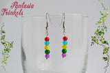 Inside Out Emotions Memory Orbs Colorful Hook Earrings - Animation inspired Jewelry