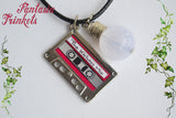 Stranger Things inspired Mix Tape + Light Bulb Keychain or Pendant Necklace - Should I stay or should I go