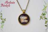 Mischief Managed - Marauder's Map Quote Photo Glass Pendant Necklace - Harry Potter Jewelry