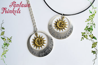 Moon of my life / My sun and stars - Khal + Khaleesi - Keychain or Pendant Necklace - Game of Thrones Jewelry